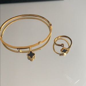 Bracelet and ring combo